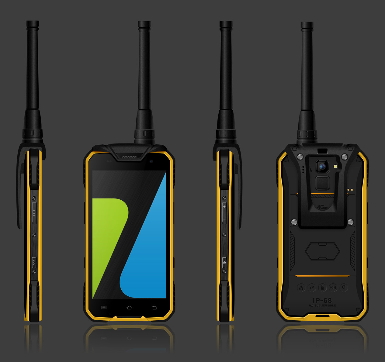 4.7 inch 4G NFC Octa Core Digital Walkie-Talkie Rugged phone or Rugged smartphone waterproof phone