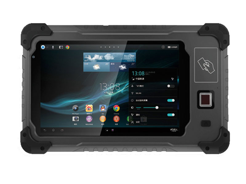 7 Inch MTK6589T Quad-core Rugged Android Tablet PC With Front NFC UHF RFID Fingerprint scanner Tablet HR708