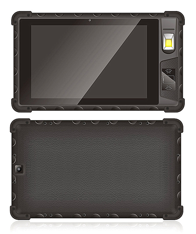 Cheapest 8 inch Android7.0 Biometric Fingerprint Scanner Front NFC Front HF RFID Rugged Tablet Industrial Tablet PC Rugged Computer